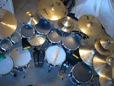 Drums from above! Drum Lessons For Kids, Gretsch Drums, Drum Kits, So Little Time, Musical Instruments, Musicals, Geek Stuff, 3d Printing, Impression 3d