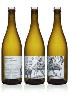 Ravensworth Wine label illustrated by Steven Noble on Behance