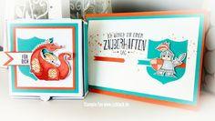 stampin occassions ocassions spring 2018 Dragon Knight Boys Kids birthday Card magical day  zauberhafter tag Drache Ritter jungen karte Geburtstag mini Pizza box
