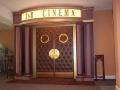Home theater - doors and marquee. Could be really cute and not too hard to make/have made & My girl baby needs a cinema entrance to her room for all the drama ...