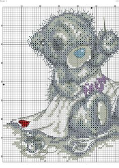Teddy cross stitch 2
