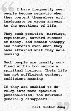 It can drive them to engage in some questionable behaviour. These social norms are all well and good, there is nothing wrong with wanting to attain these things... but none of these will make you happy if you are not content spiritually. It's the dimension most people refuse to acknowledge, let alone develop.