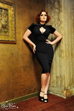Violet Dress in Black Bengaline with Black Velvet - For years, the Violet was one of our favorite and sexiest dresses, and its back now in a new construction!