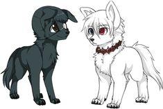 Kuroneki e Shironeki cães - Tokyo Ghoul