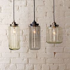 Glass Jar Pendants | #eastoakdecor