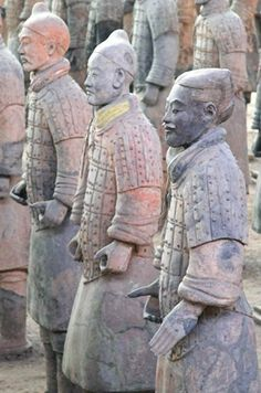 The last traces of Han purple  known is on the 3rd C. terracotta warriors. A very complex process requiring high heat. The barium copper silicate artificial pigment was not reproduced until 1992.