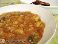 Kelkáposzta főzelék Hungarian Recipes, Hungarian Food, Chana Masala, Curry, Food And Drink, Cooking Recipes, Ethnic Recipes, Hungary, Dinners
