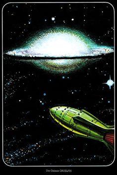 Josef Dienst Science Fiction Art, vintage sci-fi