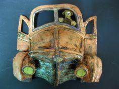 Bad Dog Leslie Hagens Ceramic Sculpture