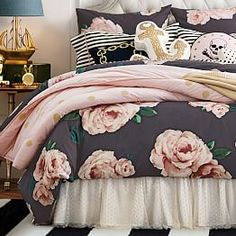 The Emily & Meritt Bed Of Roses Duvet Cover + Sham | PBteen