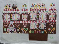 handpainted needlepoint canvas Dede Large gingerbread house