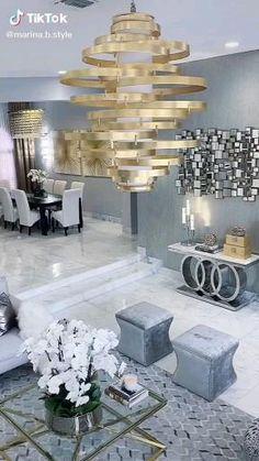 Living Room Decor Items, Glam Living Room, Elegant Living Room, Formal Living Rooms, Home Room Design, Interior Design Living Room, Living Room Designs, Home Decor Styles, Link