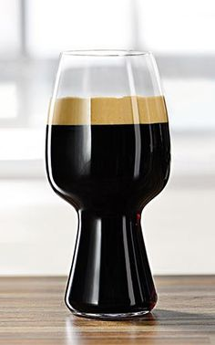 Riedel Spiegelau Stout Glass Still drinking your stout from a regular glass, eh? Not for long. Riedel glassmakers collaborated with Left Hand Brewery & Rogue Ales to design a glass that accentuates the unique flavors and body of a stout beer and this is it: The Spiegelau Stout Glass. $24.90