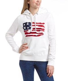 Look what I found on #zulily! White Flag Hoodie - Women by Roper #zulilyfinds