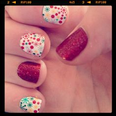 Holiday Jamberry Nails.