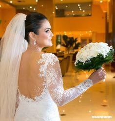 Vestido de noiva Sereia com mangas longas Carol Hungria – Empório Lulu