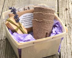 English Lavender Seed Kit Organic Lavender Seeds in Gift Basket with Growing Supplies Great Gift for Gardener or Hostess Gift