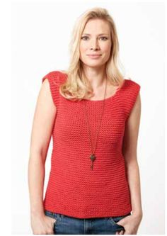 Garter Stitch Tank   This knit top pattern is perfect for beginners. Such an easy summer piece!