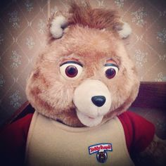Photo by heatherdnewton June 24: {a childhood memory}: Teddy Ruxpin - we had some good times with this little guy!  #childofthe80s #theidearoom
