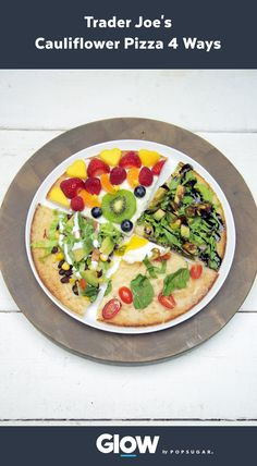 Cut the carbs without cutting the pizza! Enjoy these 4 pizzas using Trader Joe's 80-calorie cauliflower pizza crust.