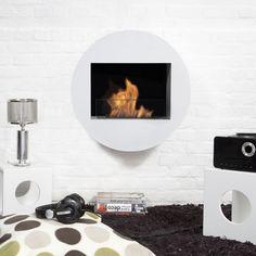 Bio-Blaze Qwara Wall-Mounted Fireplace Color: White BB-QWA-W,    #BioBlaze,    #BBQWAW,    #ElectricandGelFuelFireplaces