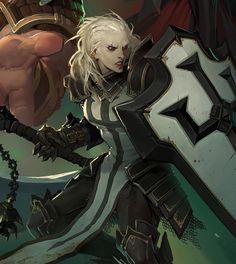 Diablo 3 Crusader - Artist: Laurel D. Austin