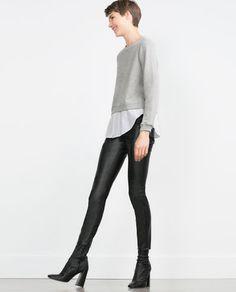 Imagem 1 de BLUSA COMBINADA POPELINA da Zara