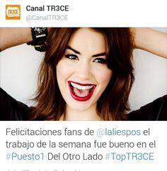 Del Otro Lado llegó al puesto#1 en  los conteos más importantes en Colombia  @laliespos @lalimusica #TopTR3CE