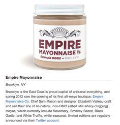 News | Empire Mayonnaise  made in Brooklyn