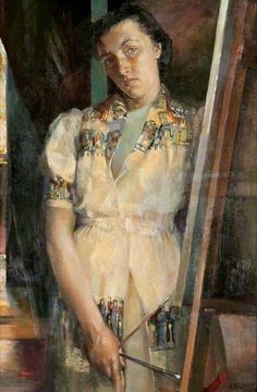 Isabel Babianska Brodie - Self-portrait, 1939 (Scottish, 1920 - 2006) Brodie was a member of the New Scottish Group