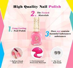 SweetCity Brand High Quality Quick Dry Nail Polish HotPink Nail Art Tools Bottle 14ml 63370014-aa40-4069-8c51-f3b8267c2e4d Nail Polish