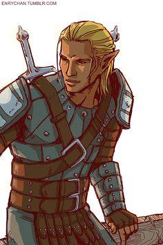 enrychan:   I drew a thing I adore my lovely Antivan elf zevran dragon age