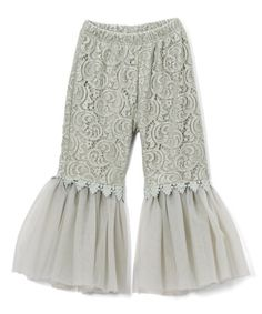Loving this Gray Lace Flare Pants - Toddler & Girls on #zulily! #zulilyfinds
