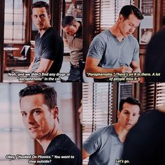 "Halstead: Okay, ""Hooked On Phonics."" You want to step outside? Antonio: Let's go. (4x02)"