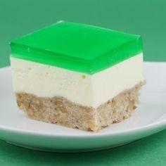 St. Patrick's Day Jello Cream Cake.