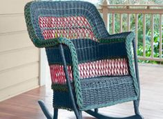 A 1910 Reed-And-Grass Rocking Chair: