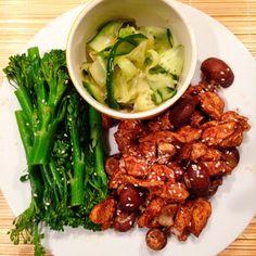 Healthy Living in Heels: Chicken Dim Sum with Bimi, Mushrooms & Sour Cucumber