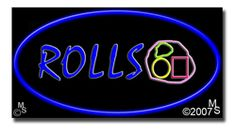 "Rolls Neon Sign - 20"" x 37""-ANS1500-6178  37"" Wide x 20"" Tall x 3"" Deep  Flashing Border ""ON/OFF"" switch  Sign is mounted on an unbreakable black or clear Lexan backing  110 volt U.L. listed transformer fits into a standard outlet  Hanging hardware & chain included  6' Power cord with standard transformer  For indoor use only  1 Year Warranty on electrical components  1 Year Warranty on standard transformers."