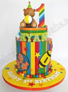 First Birthday Boy cake