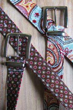 Use hardware from a cheap belt on a DIY fabric belt.... hmmmm.....