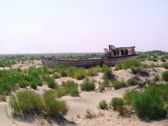 Once Aral Sea was the fourth biggest lake in the world. Now ... by magellano, via Flickr