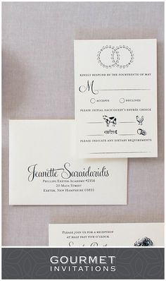 Common response cards along with the wedding invitation response dietary restrictions on response cards can be done with a simple line at the bottom like these rsvp cards we included symbols for the guests meal choices stopboris Choice Image