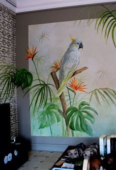 Mural pintado a mano . Mural ideas by.Www.carolmoreno.com Graffiti Wall Art, Mural Wall Art, Mural Painting, Painting & Drawing, Art Studio Design, Bedroom Murals, Wall Drawing, Wall Art Designs, Mural Ideas