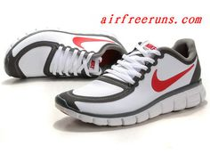 cheaper 276ab 4d6ea Classic Nike Free 5.0 V4 Leather White Red Black Cheap Running Shoes, Sale  Uk,