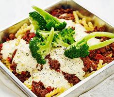 Här är en läcker pastarätt där fyllningen görs på köttfärs blandat med pastasås…