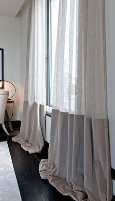 Ceiling Curtains, Curtains With Blinds, Drapes Curtains, Drapery, Interior Windows, Interior Exterior, Interior Walls, Scandinavian Curtains, Boys Bedroom Curtains