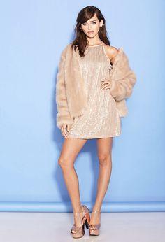 Sequin A-Line Dress