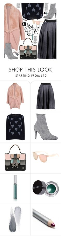 """Plus Size"" by beebeely-look ❤ liked on Polyvore featuring Chesca, Giancarlo Petriglia, Giorgio Armani, Bobbi Brown Cosmetics, Clé de Peau Beauté, WorkWear, pleatedskirts, plussize, streetwear and gamiss"