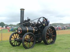 Picture of a steam train taken at the Masham Steam Rally in July, 2011.