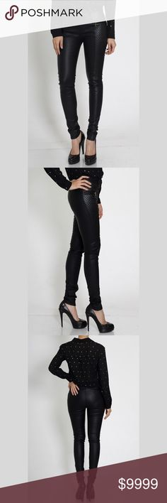 ✨Coming Soon ✨Moto-Inspired Faux Leather Pants ❤️️ Like for a price drop notification when arrives ❤️️ Faux Leather pants with modern quilted detail and glamorous gold-tone hardware. Moto inspired, wear them casual by day or dress them up after dark. Pants Skinny